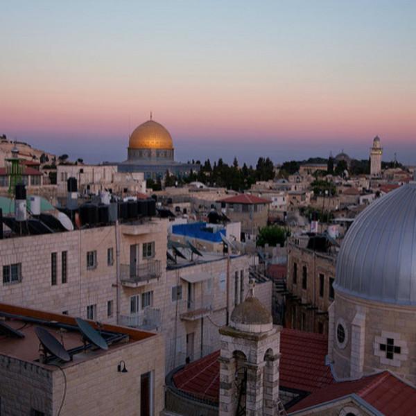 La vieille ville de Jérusalem au crépuscule