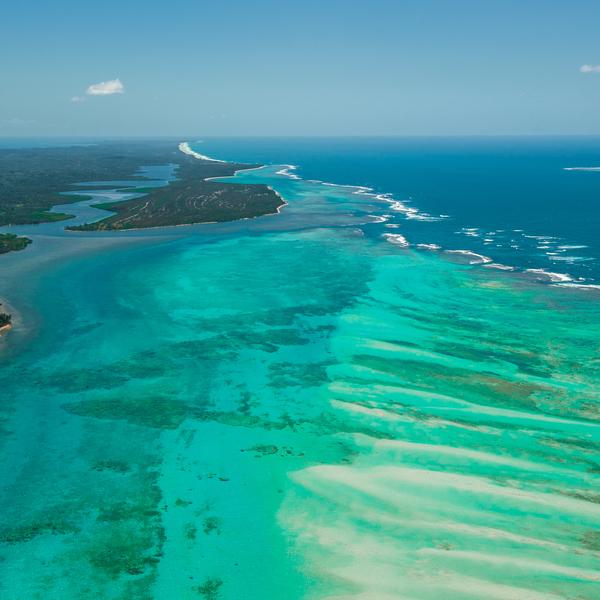 Das Bild zeigt die Insel Sainte Marie.