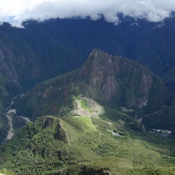 Vue sur le Machu Picchu depuis la Montaña