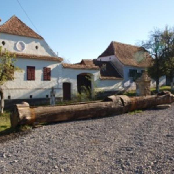Maisons typiques d'un village de Transylvanie