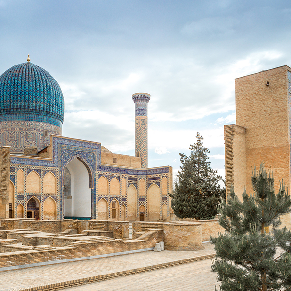 La mosquée Bibi-Khanym à Samarcande
