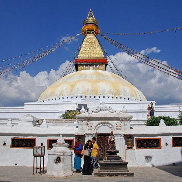 Le sanctuaire bouddhiste de Bodnath