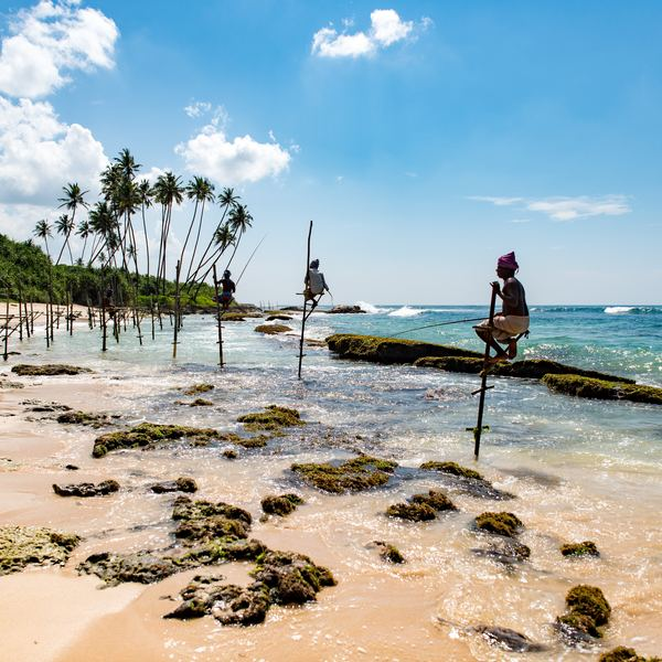 Pescadores locales en Sri Lanka.