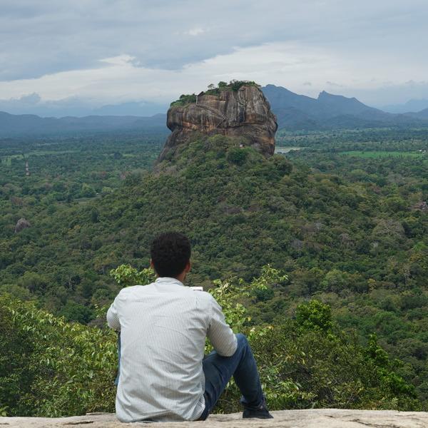 Vue panoramique sur le rocher du Lion