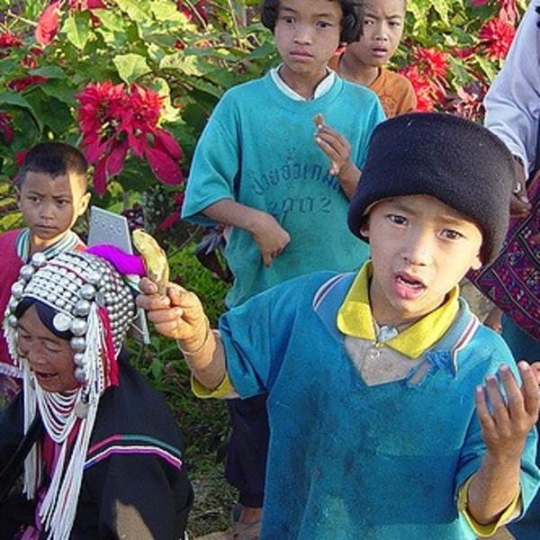 Enfants de la minorité Akhas