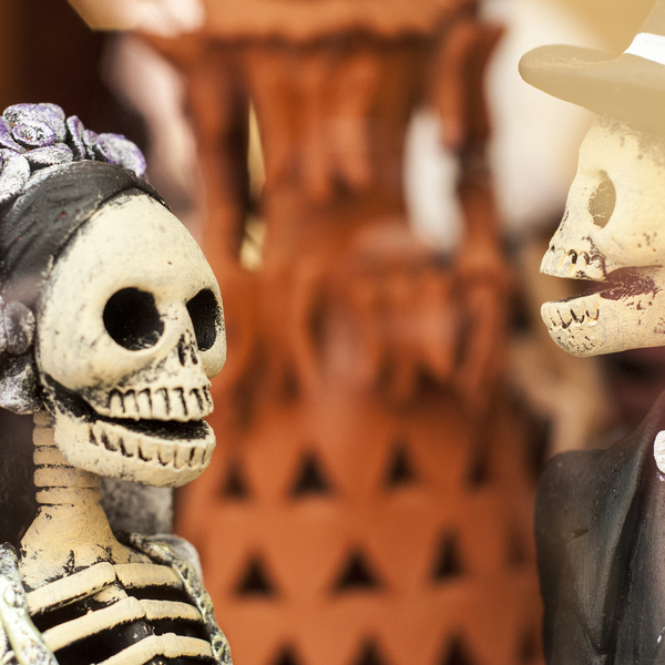 Skeleton Puppets Dia de Muertos Mexico