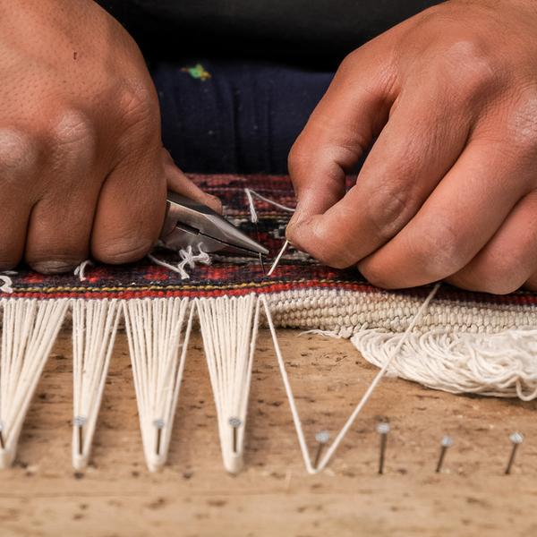 Carpet weaving in Iran