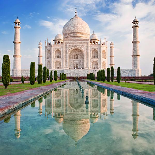 Das Bild zeigt das Taj Mahal