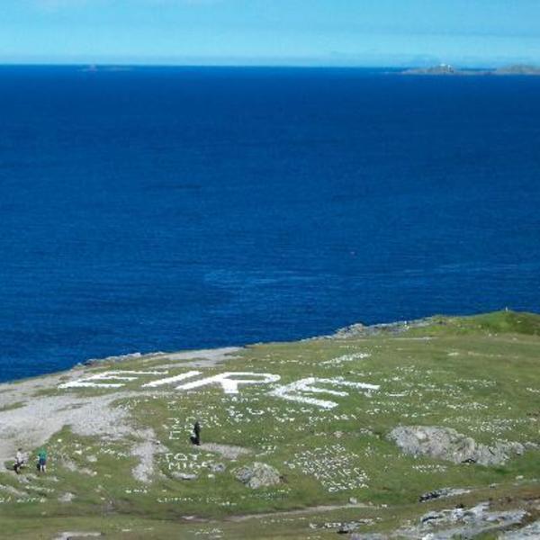 Das Bild zeigt Malin Head Donegal.