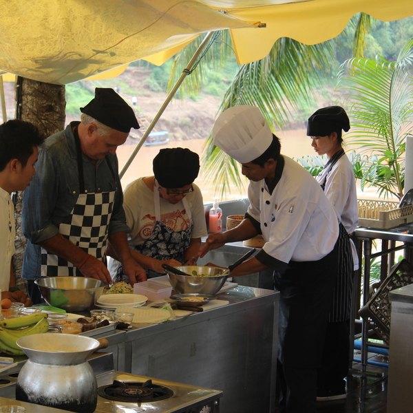 Participating in a Lao cooking class - there is definitely something to learn and be proud of and indulge in when completed!