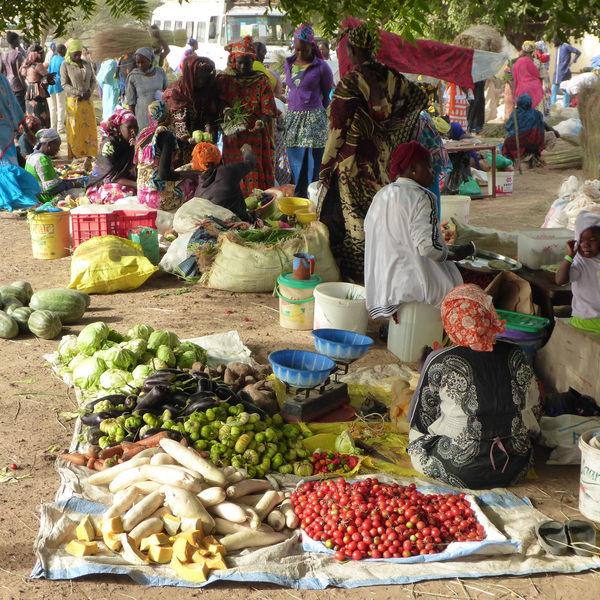 Un marché sénégalais
