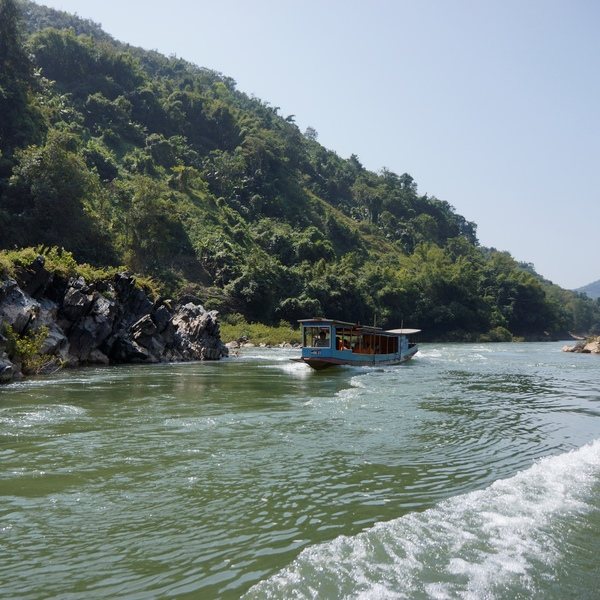 Les bateaux traditionnels qui emmènent les visiteurs en croisière sur la Nam Ou
