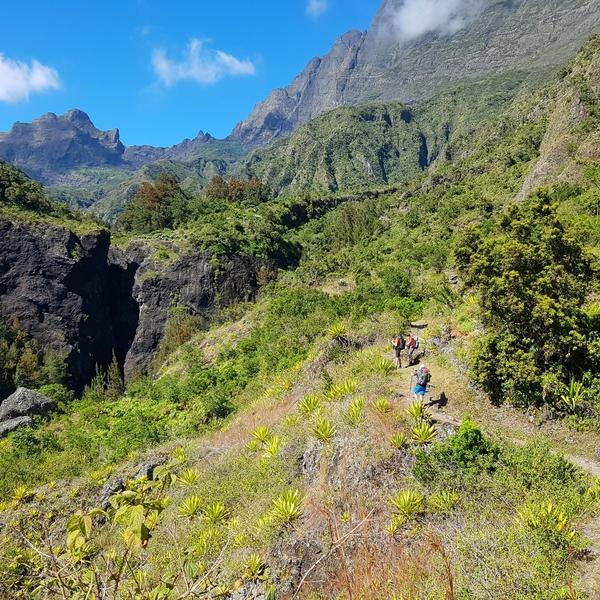 Hiking in Mafate
