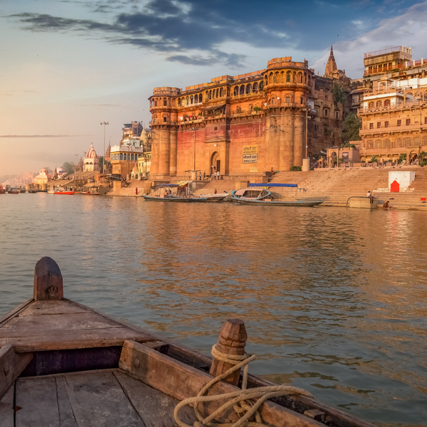 Das Bild zeigt Varanasi.