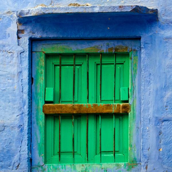 Une fenêtre d'une maison typique d'Inde