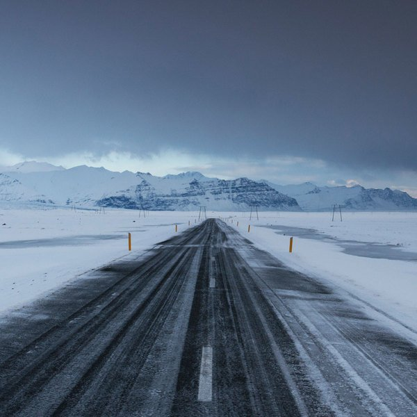 Winter storm in Iceland