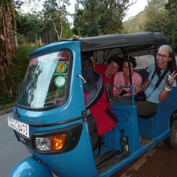 Coole Tuk Tuk Safaris durch Landschaft oder Stadt