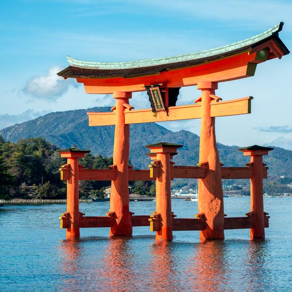 Un torii flottant près de Miyajima