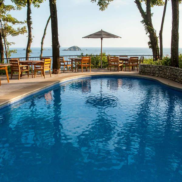 Hotel view overlooking ocean