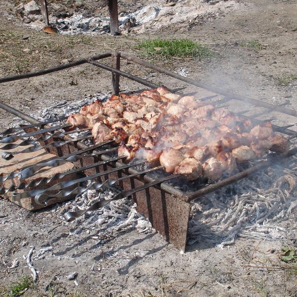 Meat skewers Georgia