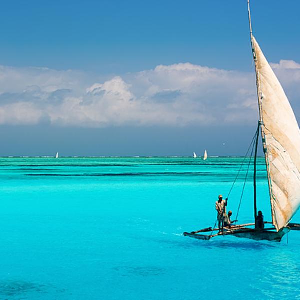 Zanzibar Tanzania Boat Blue Water