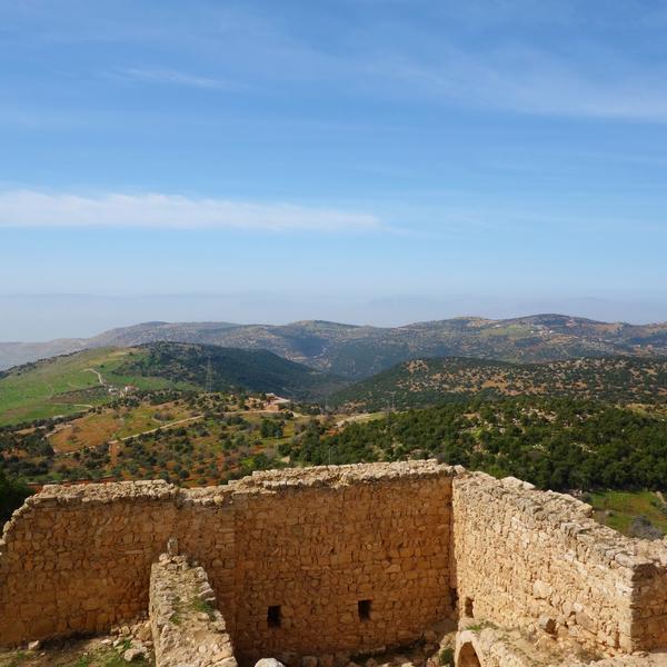 Vista dal castello di Ajlun