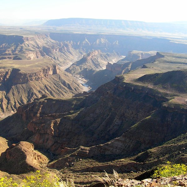 Fish River Canyon. Seen as the second largest canyon in the world, it is a spectacular view from any point