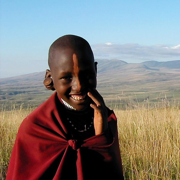 Portrait de jeune fille masaï