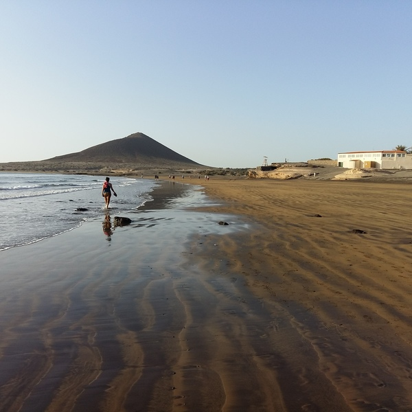 La grande plage de El Médano à Tenerife