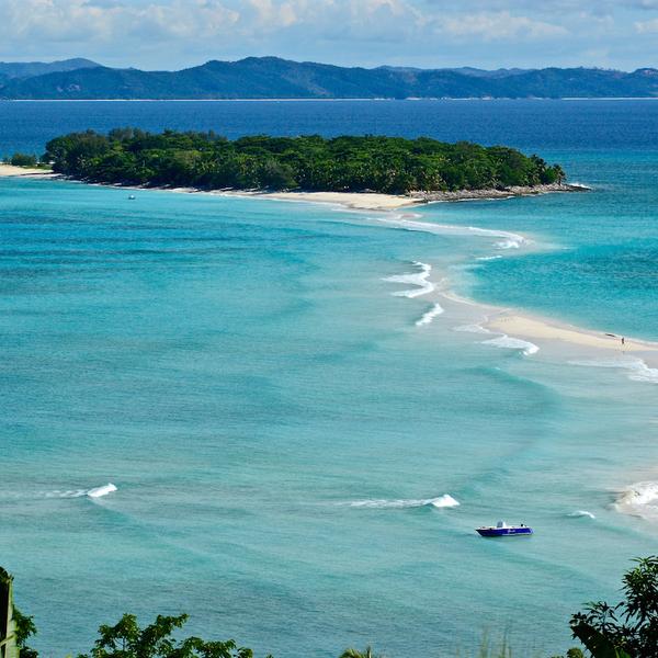 Vue panoramique sur l'île de Nosy Iranja