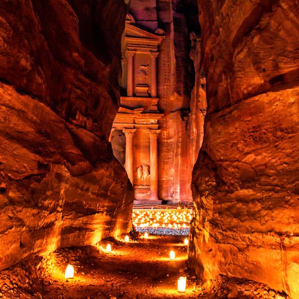 Petra Jordan Ruins Site Candlelight