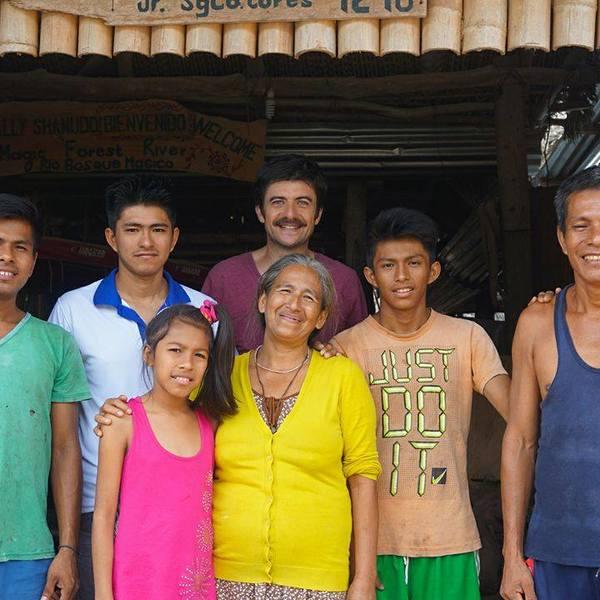 famille péruvienne du nord, qui cultive le cacao à Chazuta