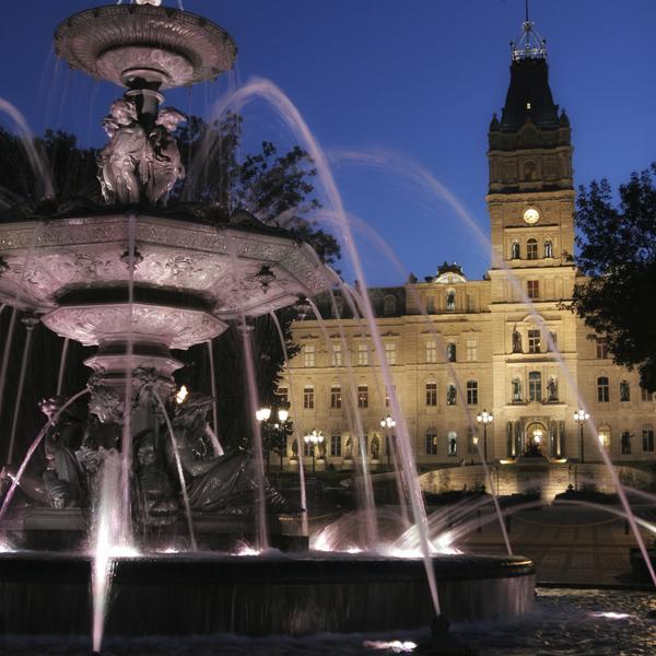 La fontaine de Tourny devant le Parlement de Québec