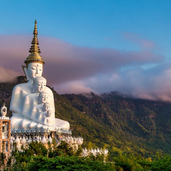 Das Bild zeig teine Statur in Thailand.