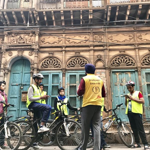 Vélo à Delhi