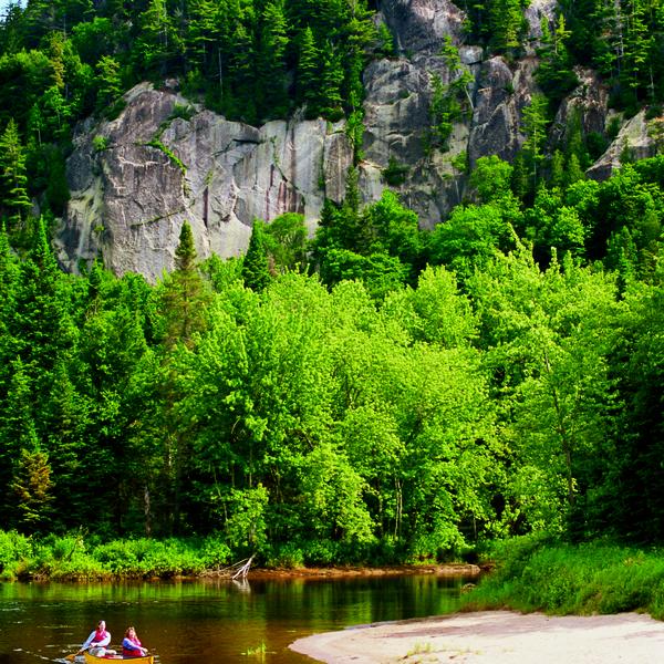 Canoe sur la rivière du Diable