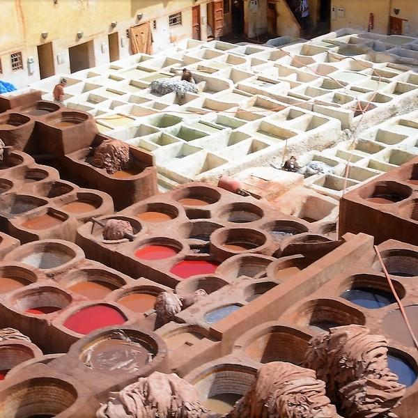 La curtiduría Chouwara compone, uno de los panoramas más pintorescos de la ciudad.