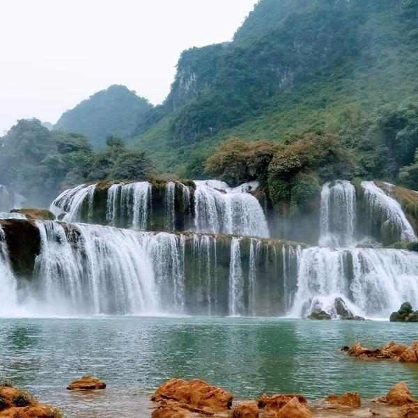 Les chutes d'eau Ban Gioc à Cao Bang