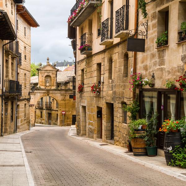 Alleyway in Camino, Spain